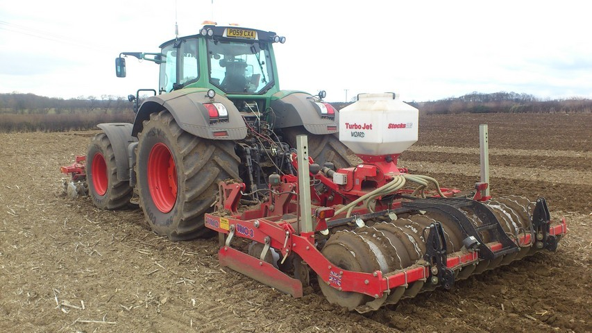 3x 3meter Sumo Trio's with seeders and front cultivating discs
