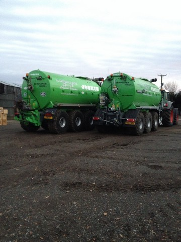 3 Vacuum tankers are available to lead and dispose of farm slurries and digestate.