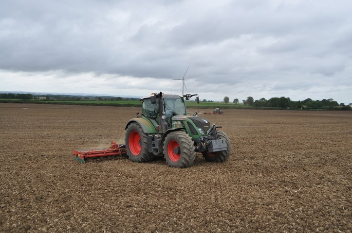 2x 6 meter folding power harrows