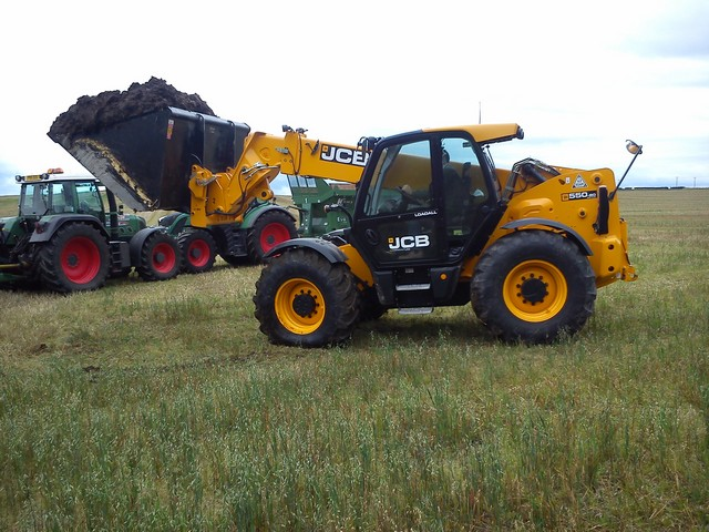 Telehandlers available for loading with muck grabs/buckets also yard sweepers.